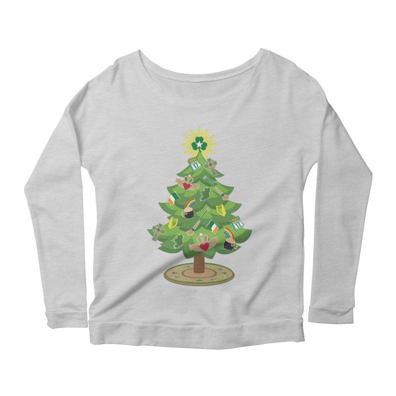 Irish Christmas Tree Women's Scoop Neck Longsleeve T-Shirt by Brian Harms