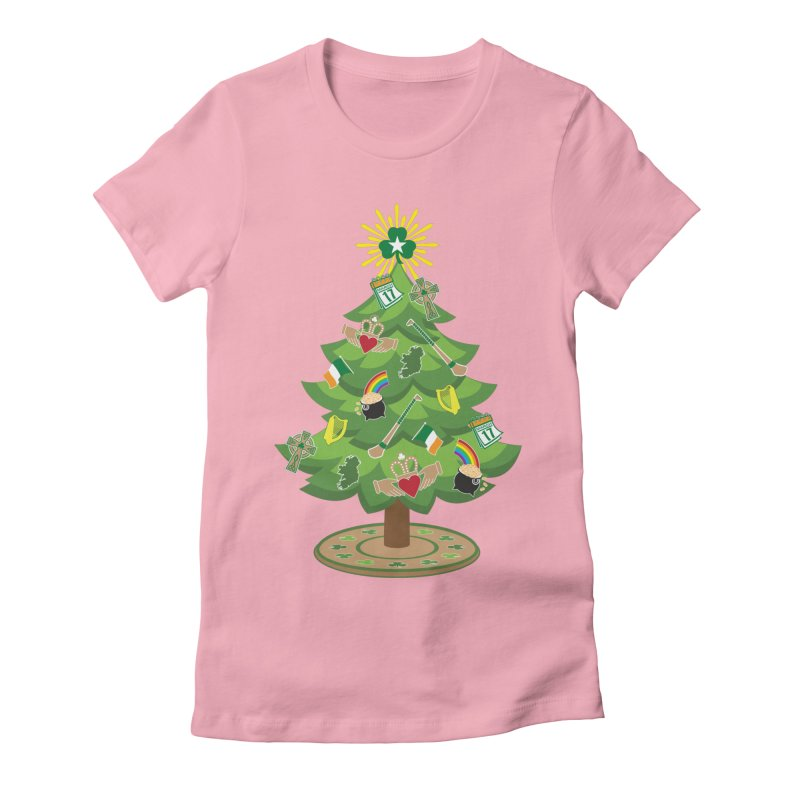 Irish Christmas Tree Women's Fitted T-Shirt by Brian Harms