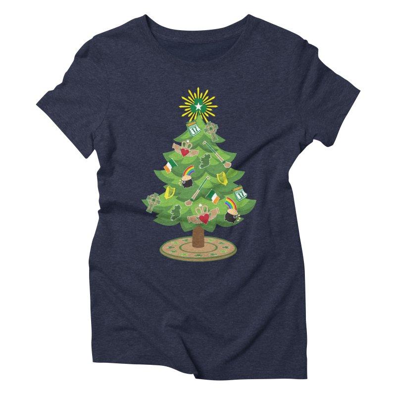 Irish Christmas Tree Women's Triblend T-Shirt by Brian Harms
