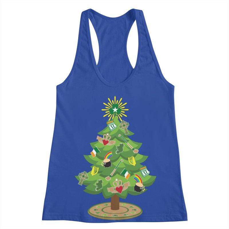 Irish Christmas Tree Women's Racerback Tank by Brian Harms