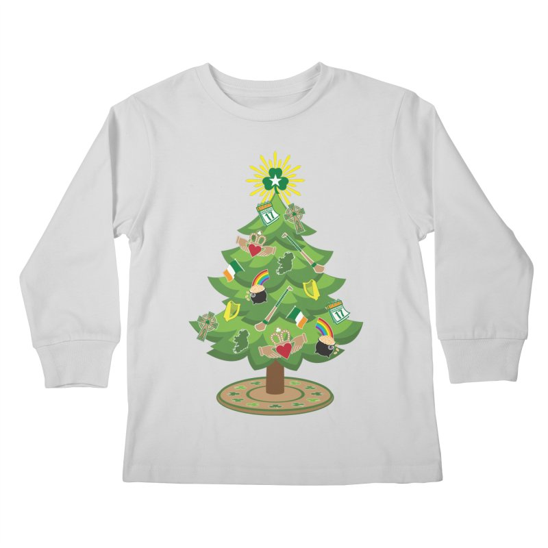 Irish Christmas Tree Kids Longsleeve T-Shirt by Brian Harms