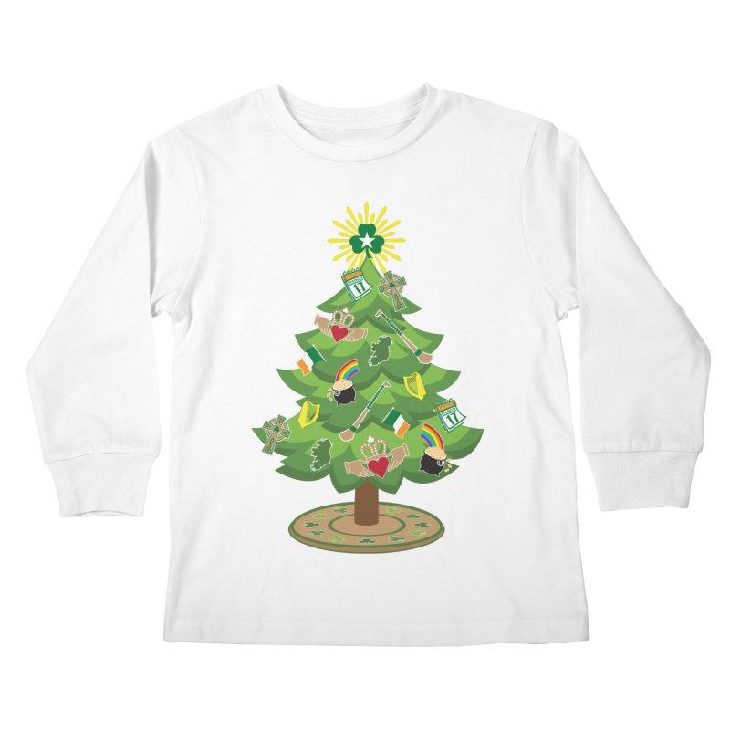 Irish Christmas Tree Kids Longsleeve T-Shirt by Brian Harms