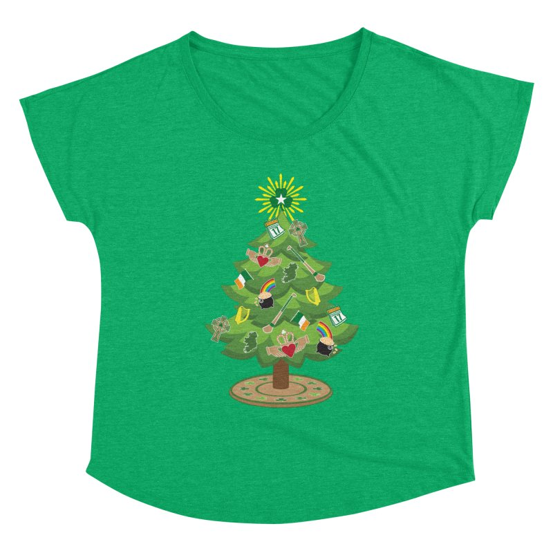 Irish Christmas Tree Women's Scoop Neck by Brian Harms