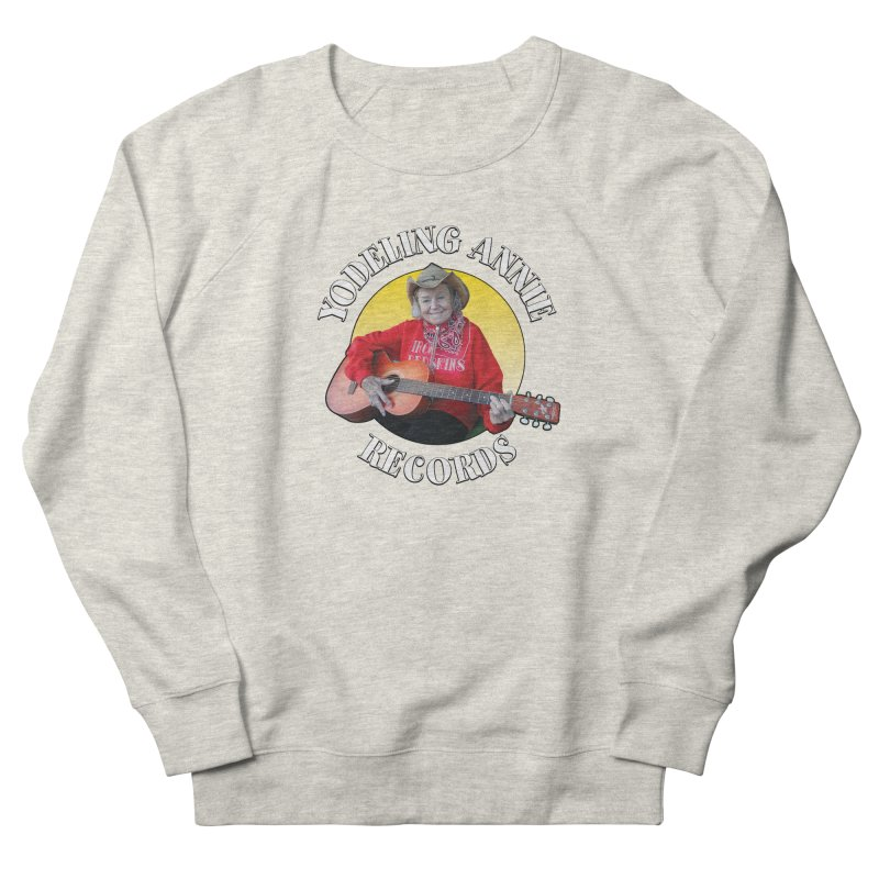 Yodeling Annie Records Women's French Terry Sweatshirt by Brian Harms