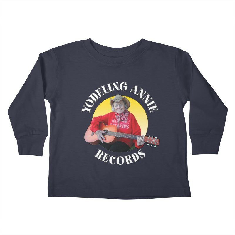 Yodeling Annie Records Kids Toddler Longsleeve T-Shirt by Brian Harms