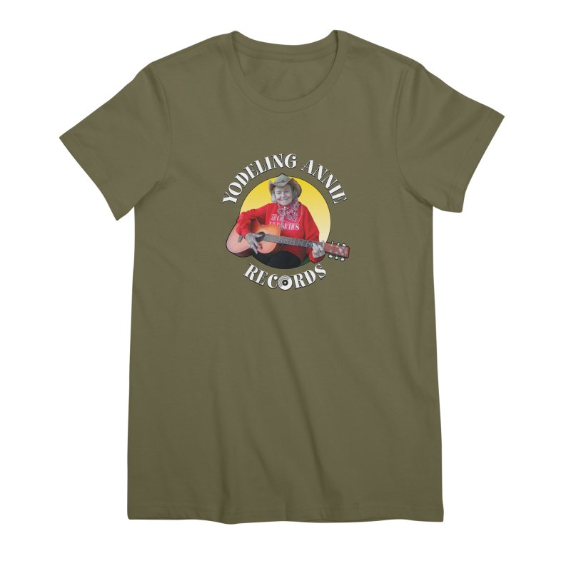 Yodeling Annie Records Women's Premium T-Shirt by Brian Harms