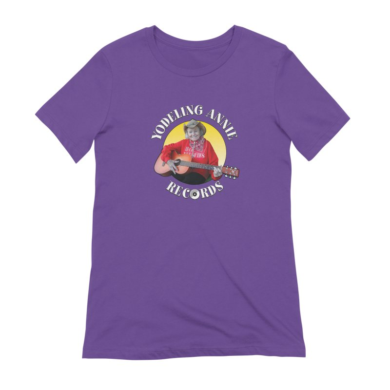 Yodeling Annie Records Women's Extra Soft T-Shirt by Brian Harms