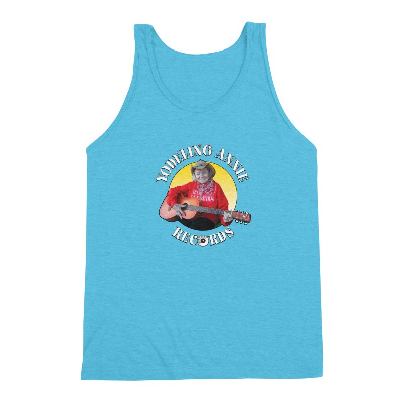 Yodeling Annie Records Men's Triblend Tank by Brian Harms