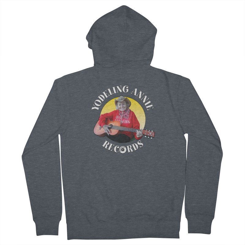 Yodeling Annie Records Men's French Terry Zip-Up Hoody by Brian Harms