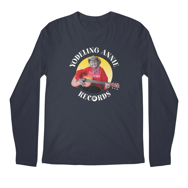 Yodeling Annie Records Men's Regular Longsleeve T-Shirt by Brian Harms