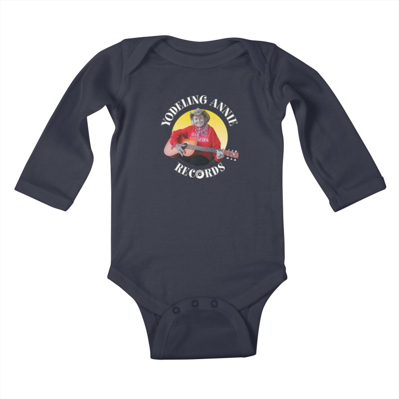 Yodeling Annie Records Kids Baby Longsleeve Bodysuit by Brian Harms