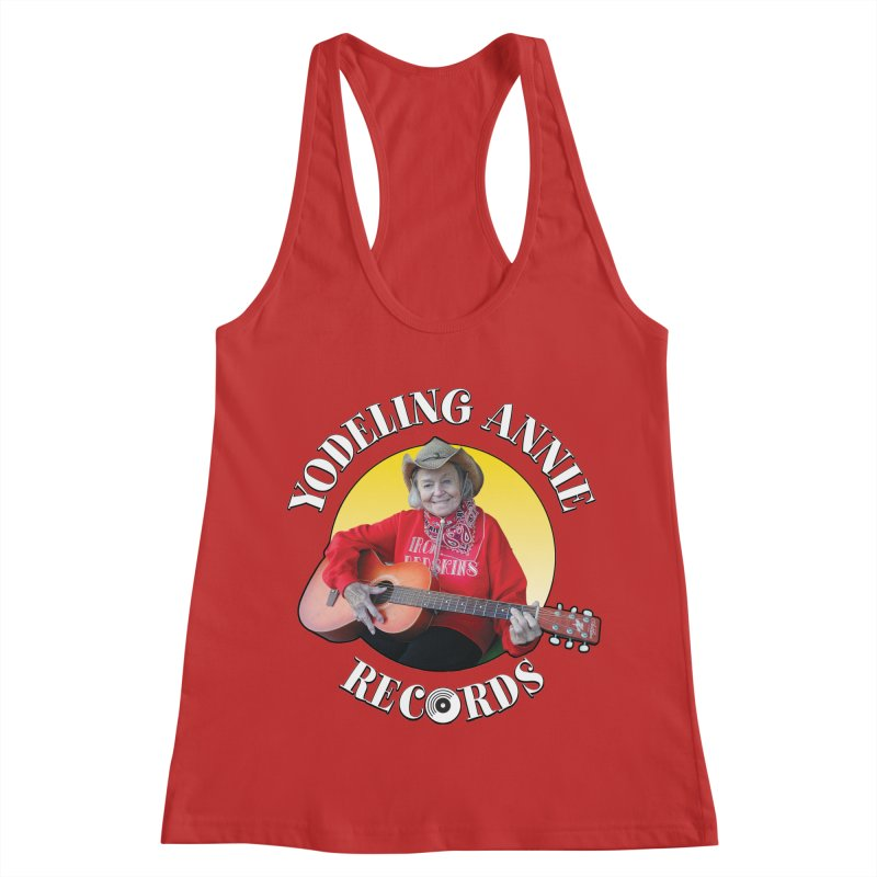 Yodeling Annie Records Women's Racerback Tank by Brian Harms