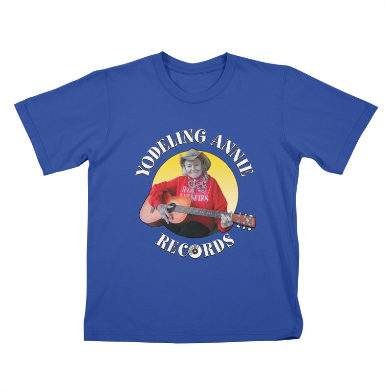 Yodeling Annie Records Kids T-Shirt by Brian Harms