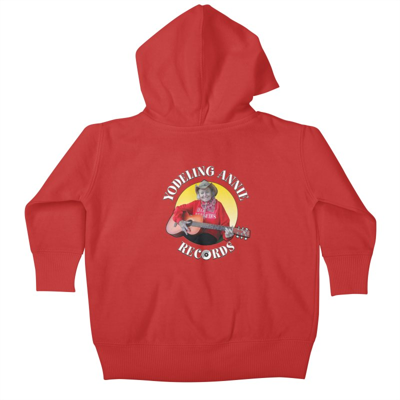 Yodeling Annie Records Kids Baby Zip-Up Hoody by Brian Harms