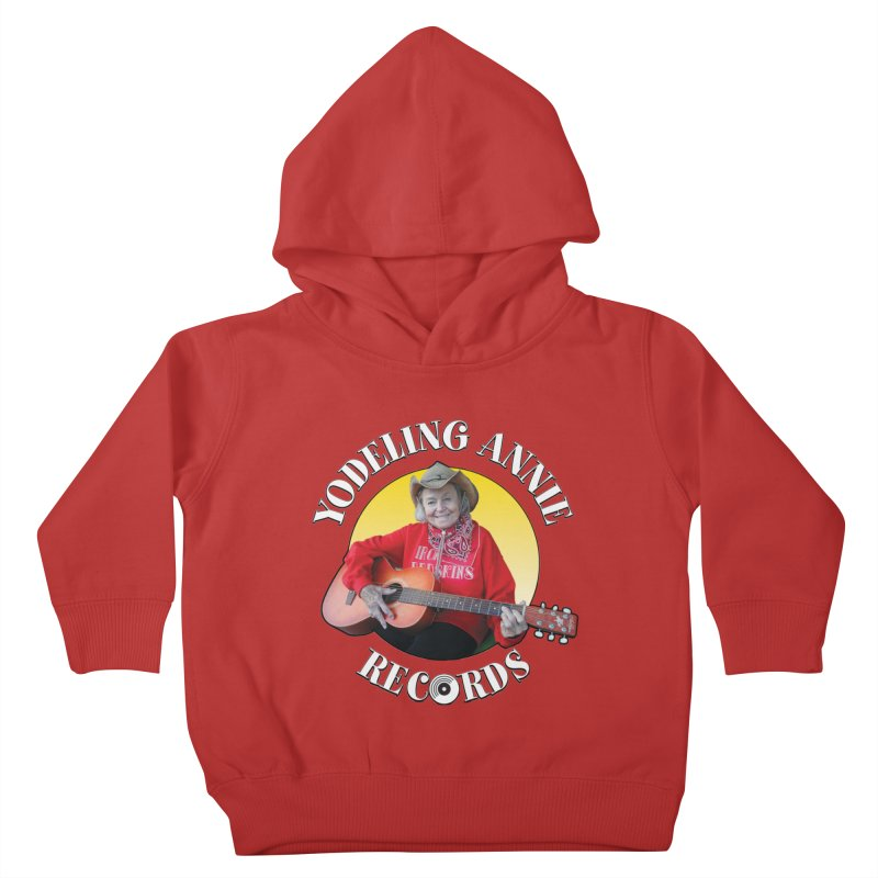 Yodeling Annie Records Kids Toddler Pullover Hoody by Brian Harms