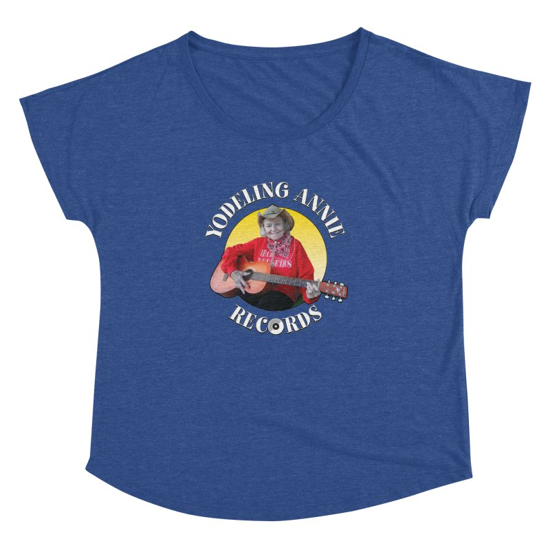 Yodeling Annie Records Women's Dolman Scoop Neck by Brian Harms