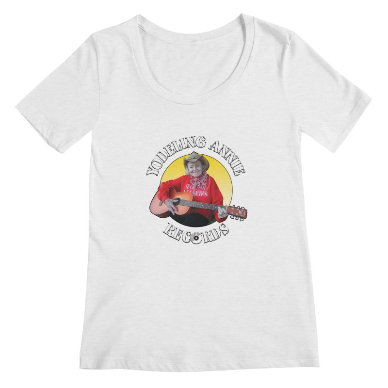 Yodeling Annie Records Women's Regular Scoop Neck by Brian Harms