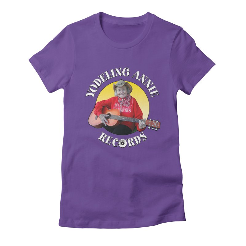 Yodeling Annie Records Women's Fitted T-Shirt by Brian Harms