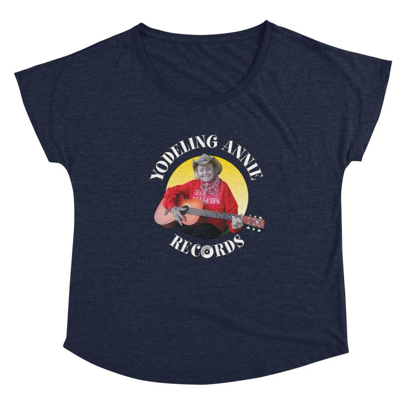 Yodeling Annie Records Women's Scoop Neck by Brian Harms