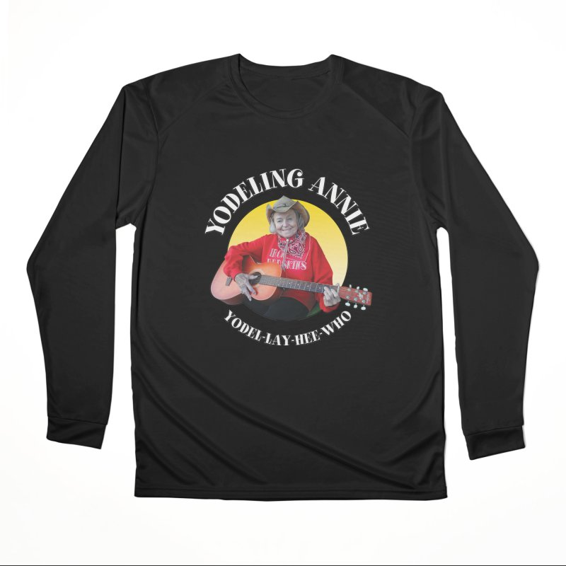 Yodeling Annie Men's Performance Longsleeve T-Shirt by Brian Harms
