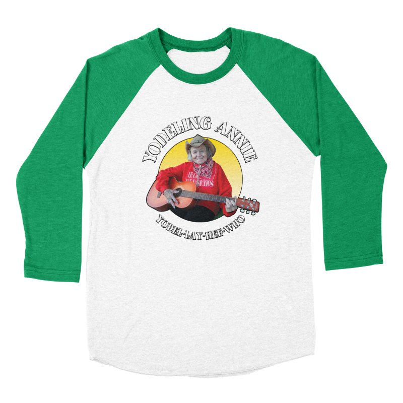 Yodeling Annie Women's Baseball Triblend Longsleeve T-Shirt by Brian Harms