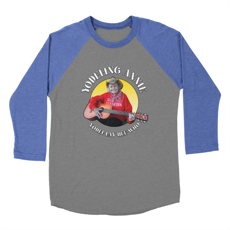Yodeling Annie Men's Baseball Triblend Longsleeve T-Shirt by Brian Harms