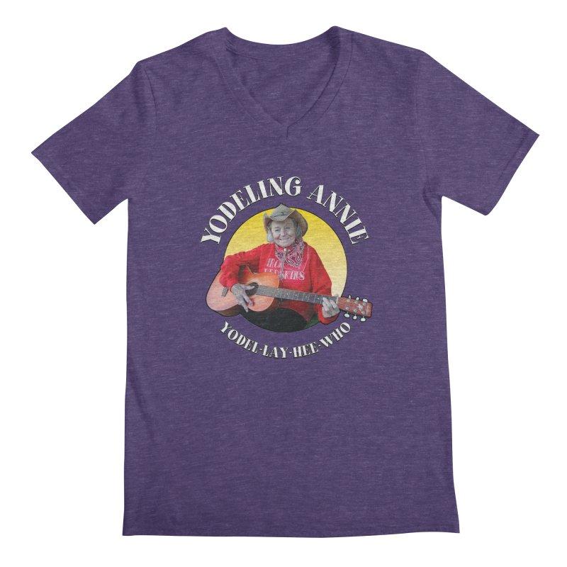 Yodeling Annie Men's Regular V-Neck by Brian Harms