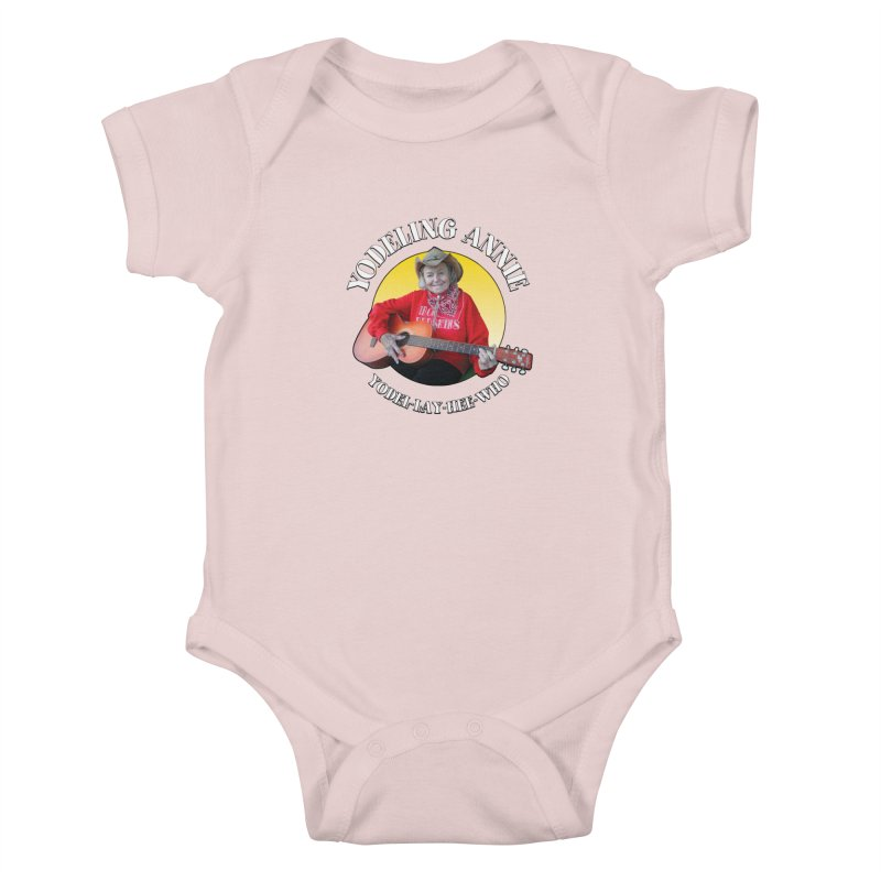 Yodeling Annie Kids Baby Bodysuit by Brian Harms