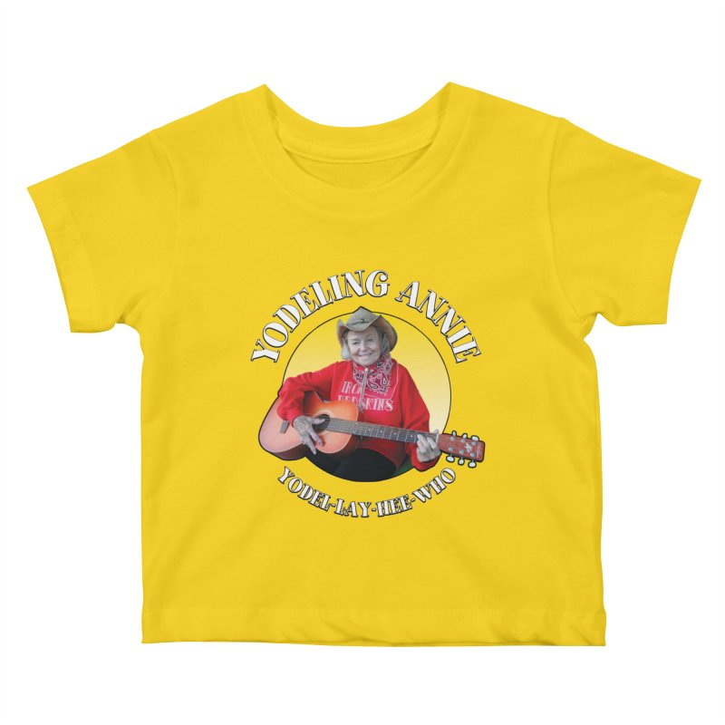 Yodeling Annie Kids Baby T-Shirt by Brian Harms