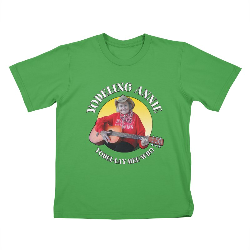 Yodeling Annie Kids T-Shirt by Brian Harms