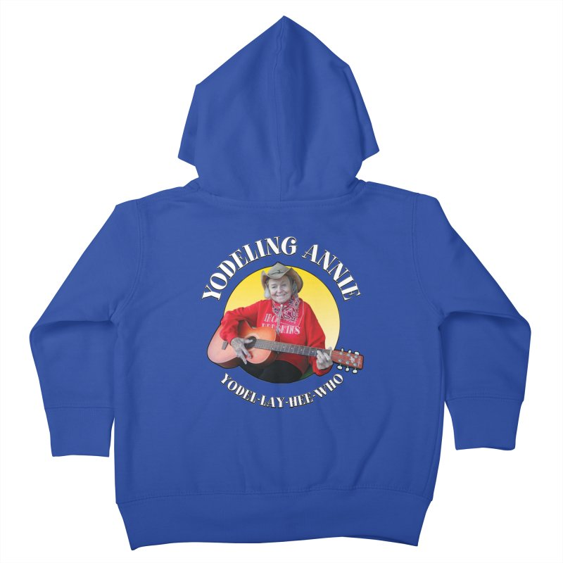 Yodeling Annie Kids Toddler Zip-Up Hoody by Brian Harms