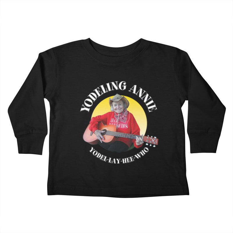 Yodeling Annie Kids Toddler Longsleeve T-Shirt by Brian Harms