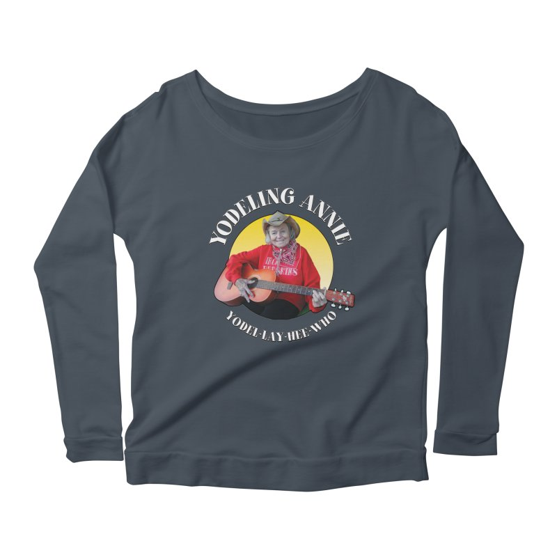 Yodeling Annie Women's Scoop Neck Longsleeve T-Shirt by Brian Harms