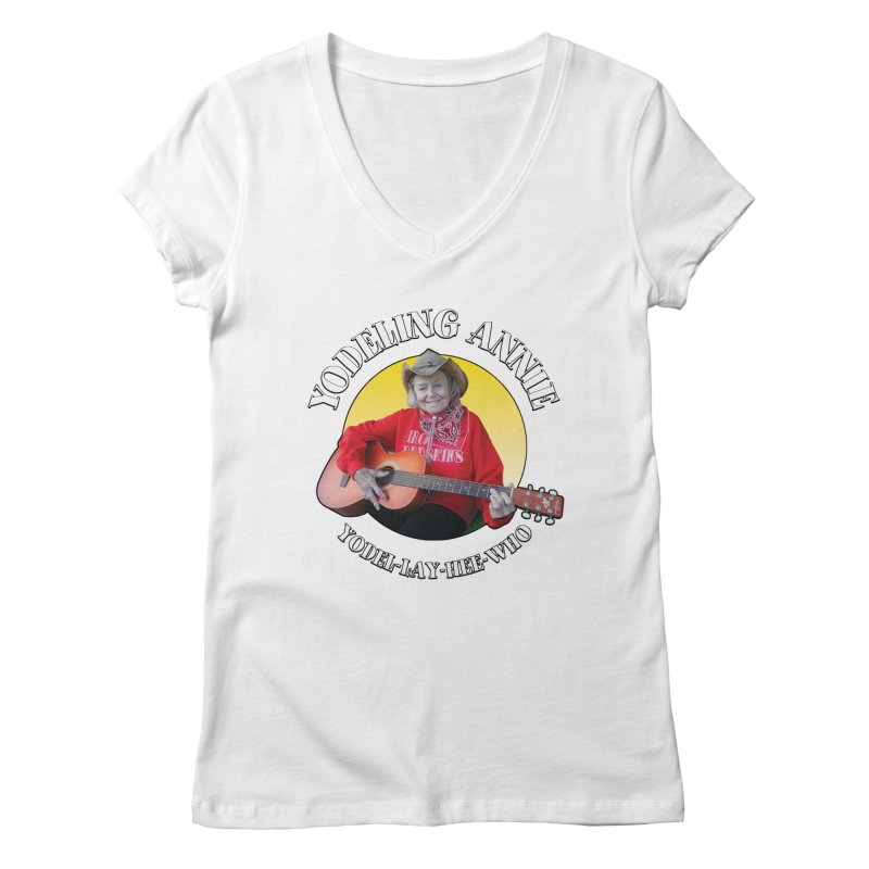 Yodeling Annie Women's Regular V-Neck by Brian Harms