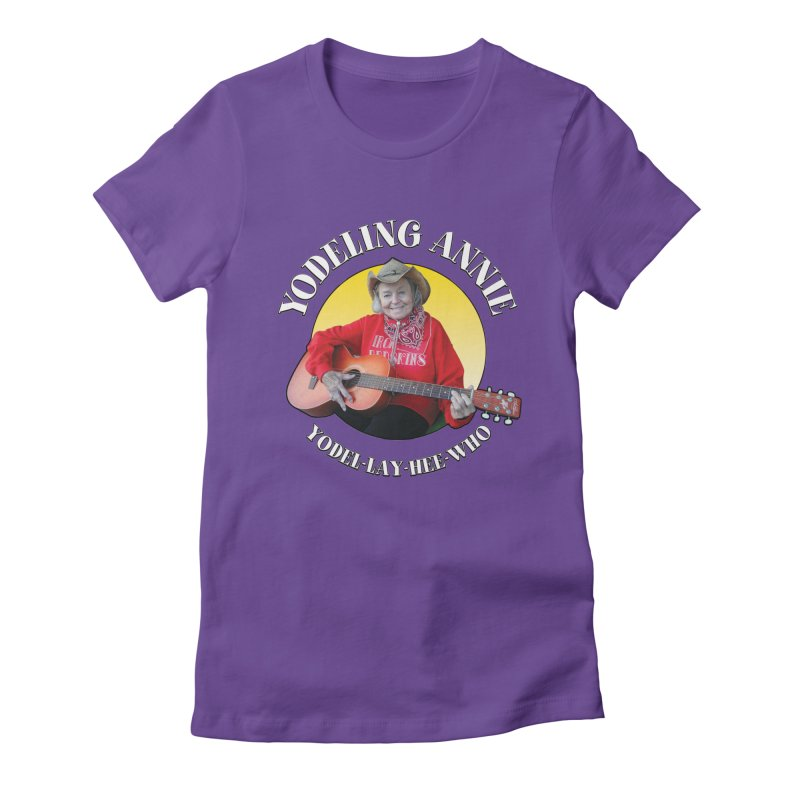 Yodeling Annie Women's Fitted T-Shirt by Brian Harms