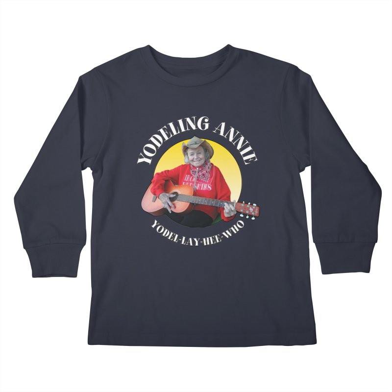 Yodeling Annie Kids Longsleeve T-Shirt by Brian Harms