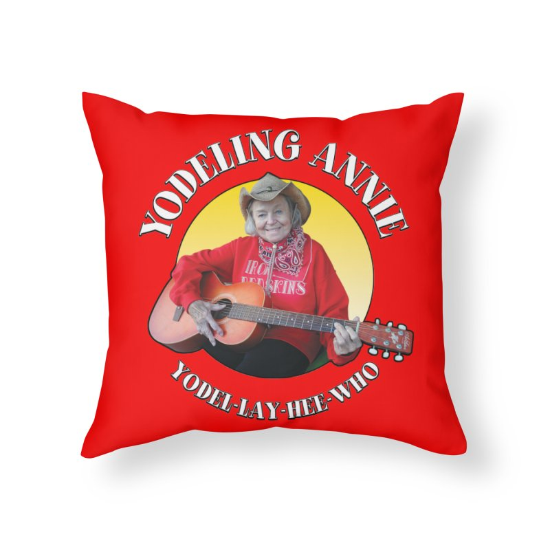 Yodeling Annie Home Throw Pillow by Brian Harms