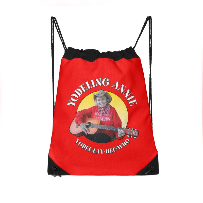 Yodeling Annie Accessories Drawstring Bag Bag by Brian Harms