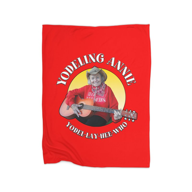 Yodeling Annie Home Fleece Blanket Blanket by Brian Harms