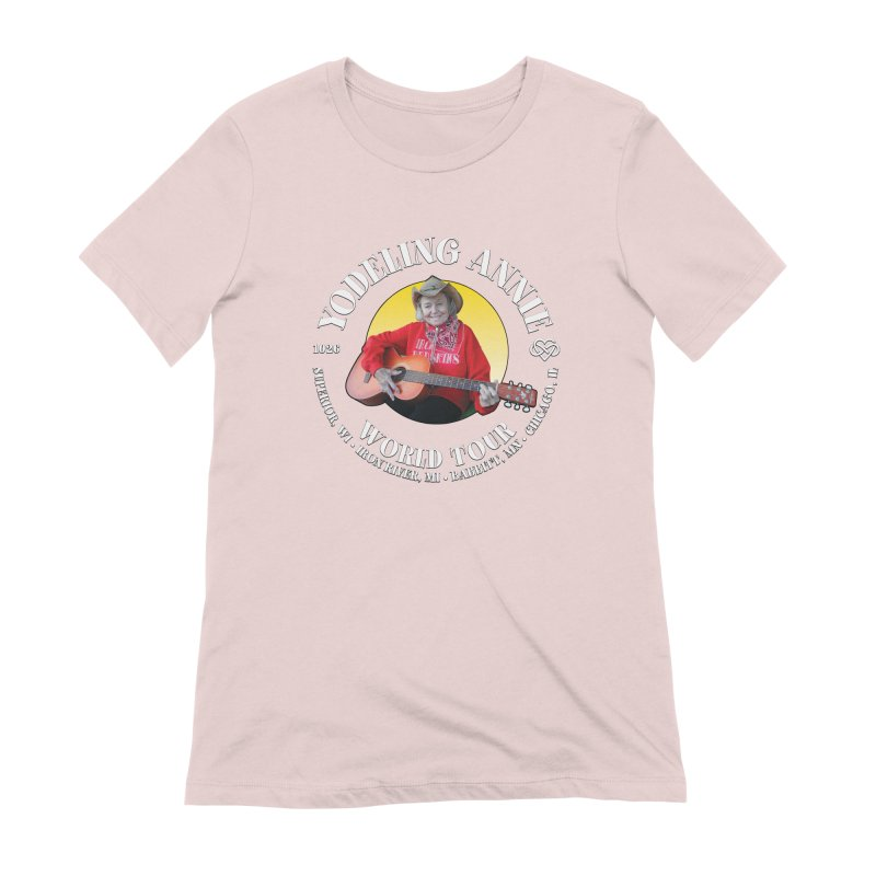 Yodeling Annie World Tour Women's Extra Soft T-Shirt by Brian Harms