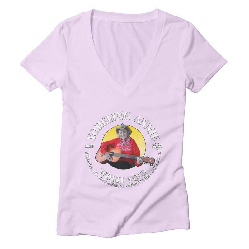 Yodeling Annie World Tour Women's Deep V-Neck V-Neck by Brian Harms