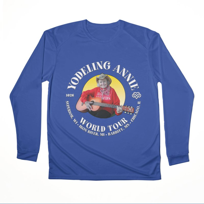 Yodeling Annie World Tour Men's Performance Longsleeve T-Shirt by Brian Harms