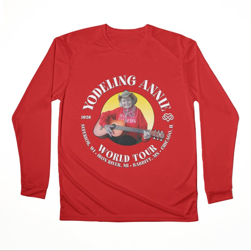 Yodeling Annie World Tour Women's Performance Unisex Longsleeve T-Shirt by Brian Harms