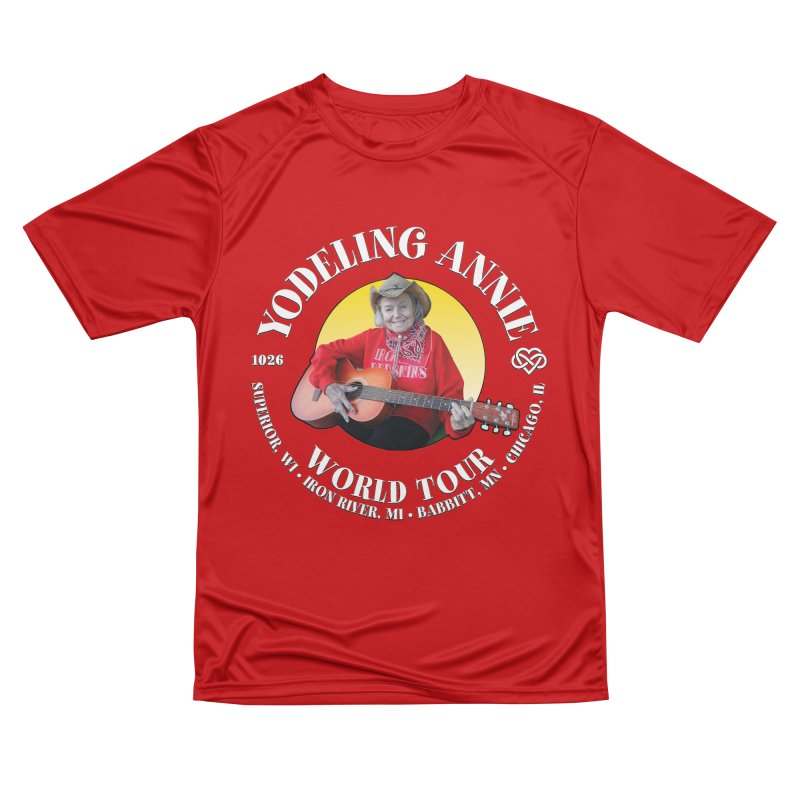 Yodeling Annie World Tour Men's Performance T-Shirt by Brian Harms