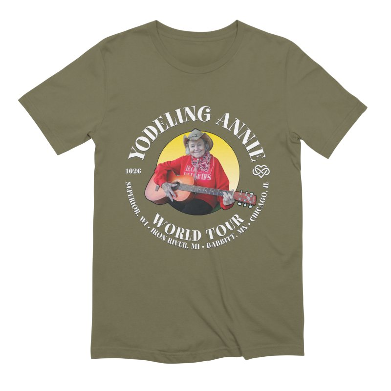 Yodeling Annie World Tour Men's Extra Soft T-Shirt by Brian Harms
