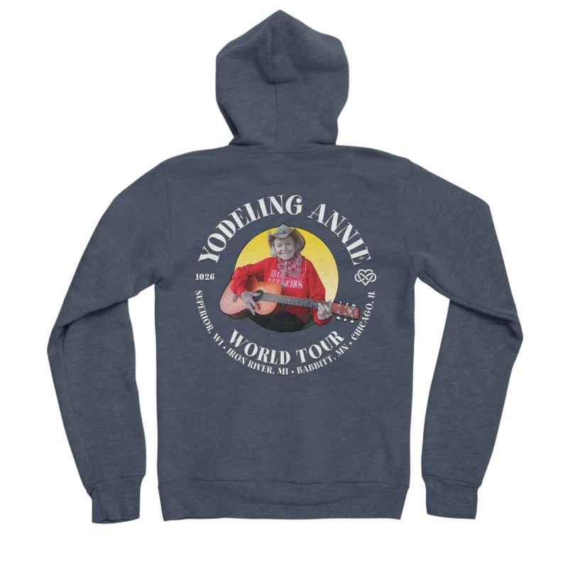 Yodeling Annie World Tour Men's Sponge Fleece Zip-Up Hoody by Brian Harms