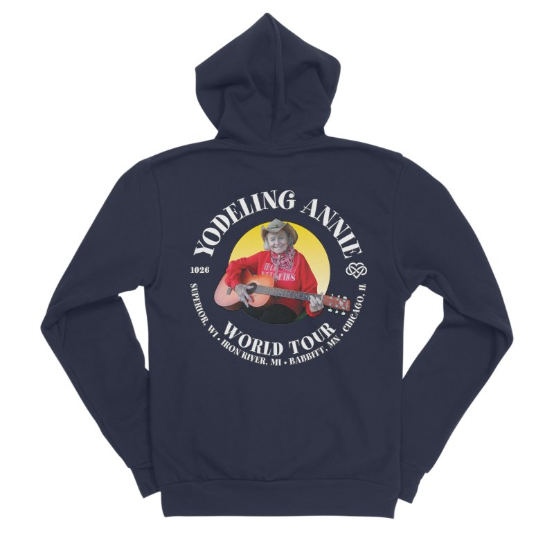 Yodeling Annie World Tour Men's Sponge Fleece Zip-Up Hoody by Brian Harms