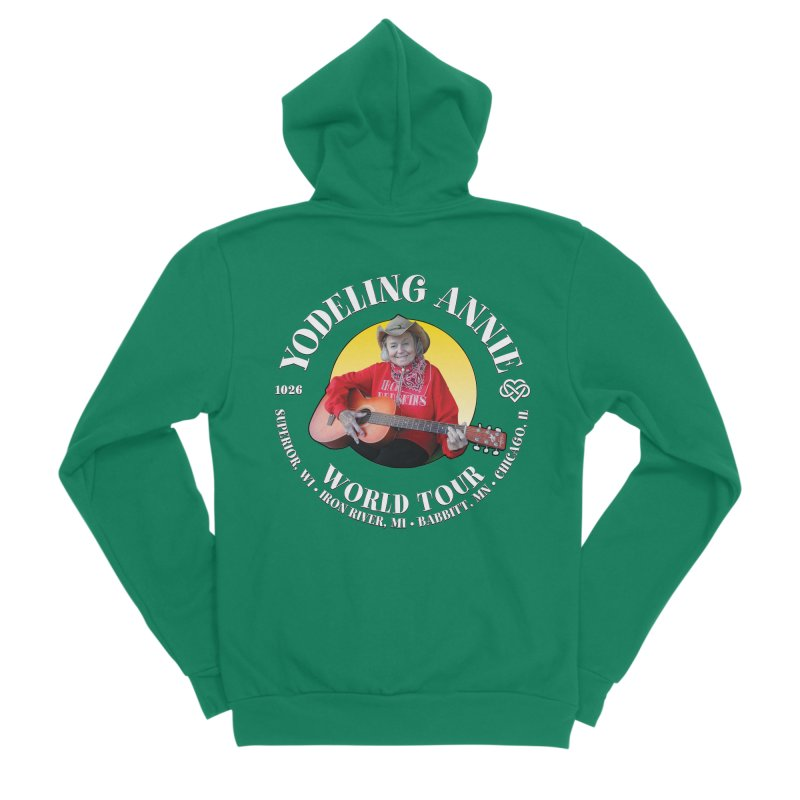 Yodeling Annie World Tour Men's Zip-Up Hoody by Brian Harms