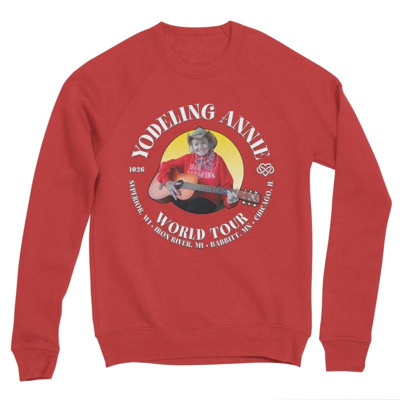 Yodeling Annie World Tour Women's Sponge Fleece Sweatshirt by Brian Harms