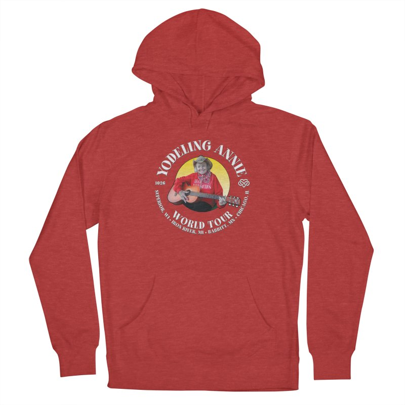 Yodeling Annie World Tour Men's French Terry Pullover Hoody by Brian Harms